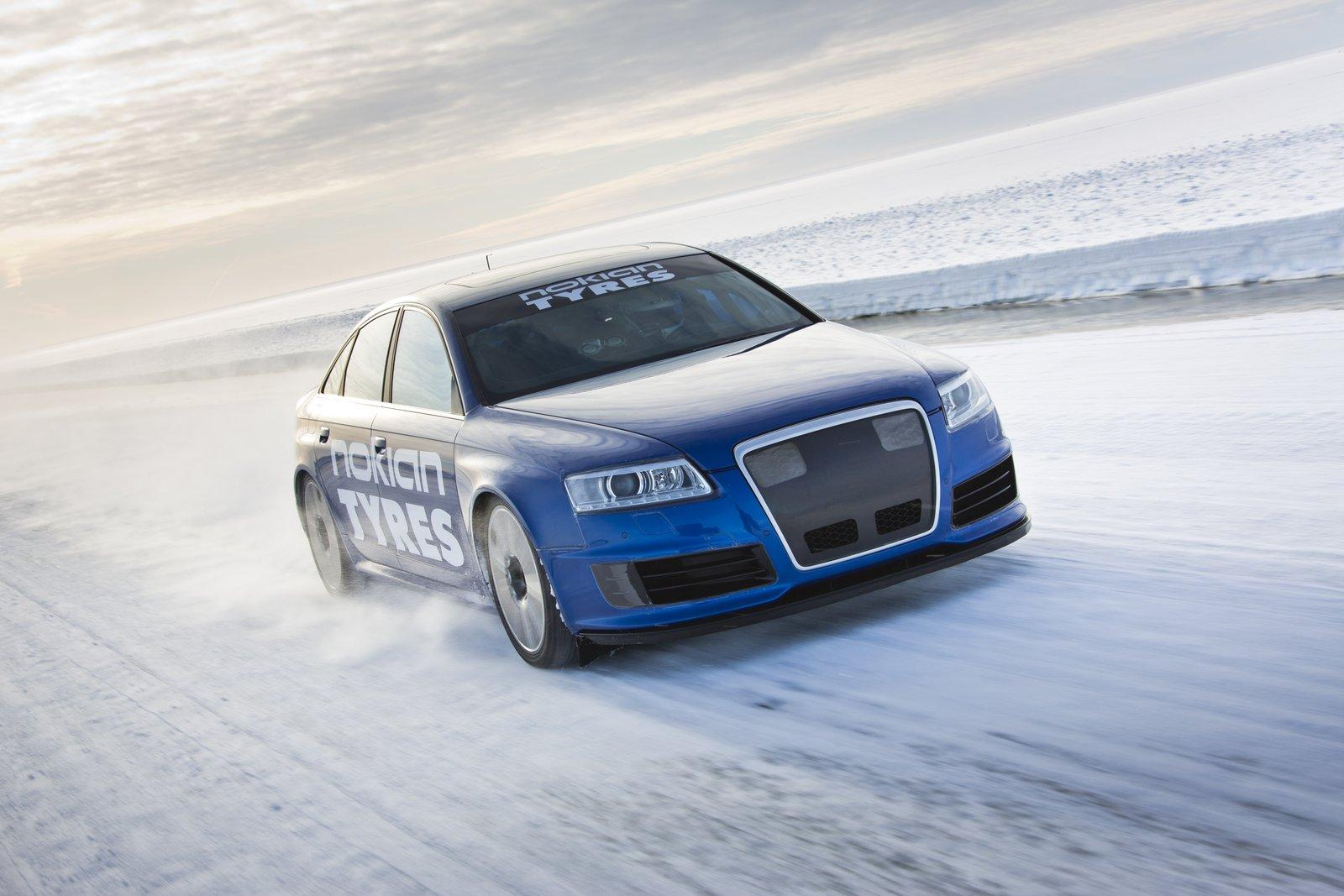 Audi-RS6-ice-world-record-speed-Nokian-tyres