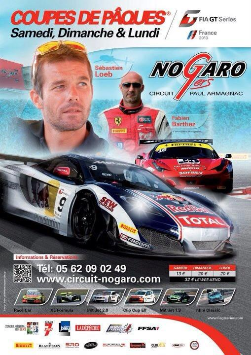 FIA-GT-Series-Nogaro-affiche-coupes-de paques-Loeb-Barthez
