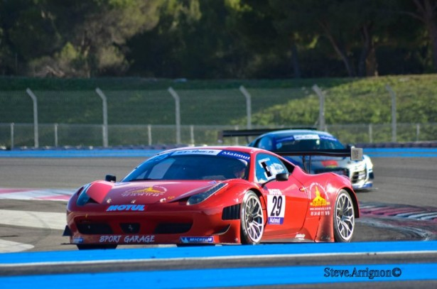 Gt tour jacques villeneuve sur la ferrari f458 de l for Garage les milles