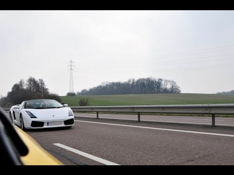 Lamborghini Gallardo high speed flyby