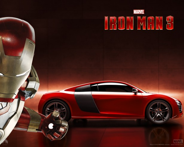 audi r8 e tron iron man d j bord les voitures. Black Bedroom Furniture Sets. Home Design Ideas
