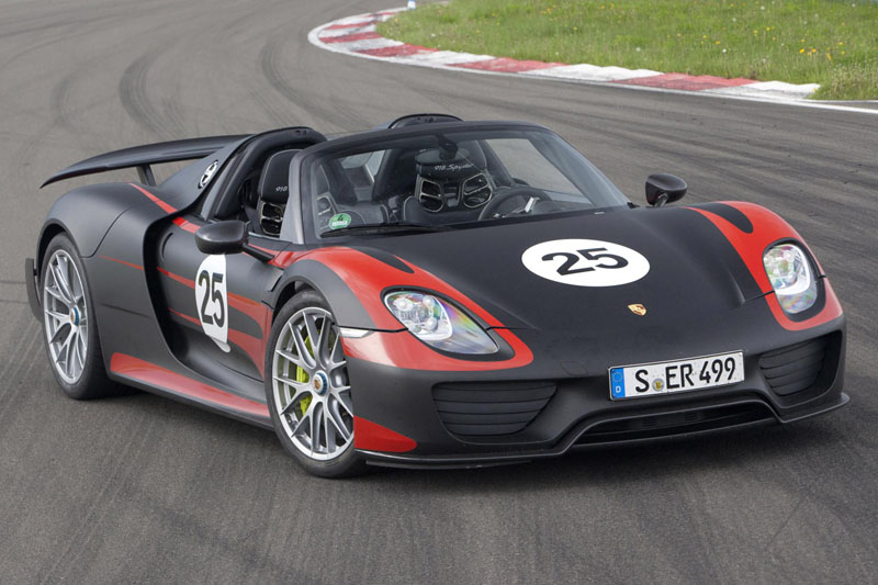 Porsche 918 Spyder : 887 chevaux pour la bombe sans toit&#8230;