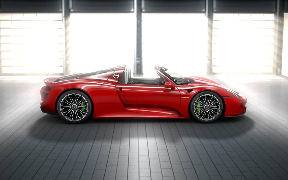 porsche 918 spyder rouge les voitures. Black Bedroom Furniture Sets. Home Design Ideas