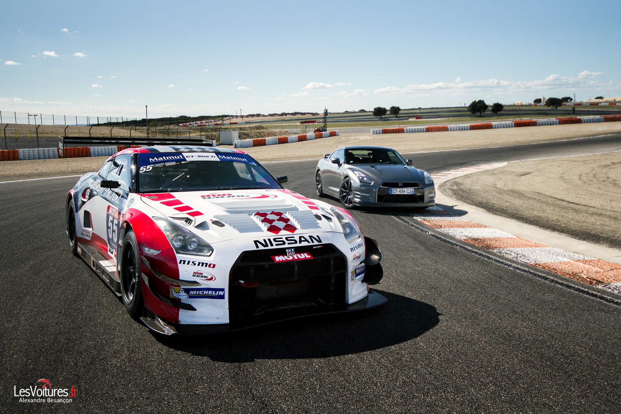 Nissan GT-R : lignée ultra-sportive en piste à Lédenon avec le JMB Racing Team !