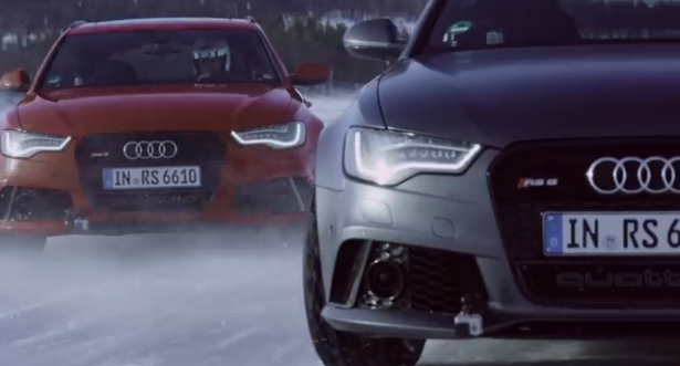 Video-rs6-avant-ice-track