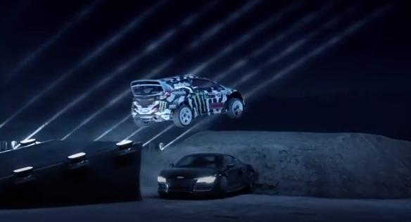 video-castrol-Ken-Block-Mike-Rockenfeller-Augusto-Farfus-Adrian-Zaugg-laser