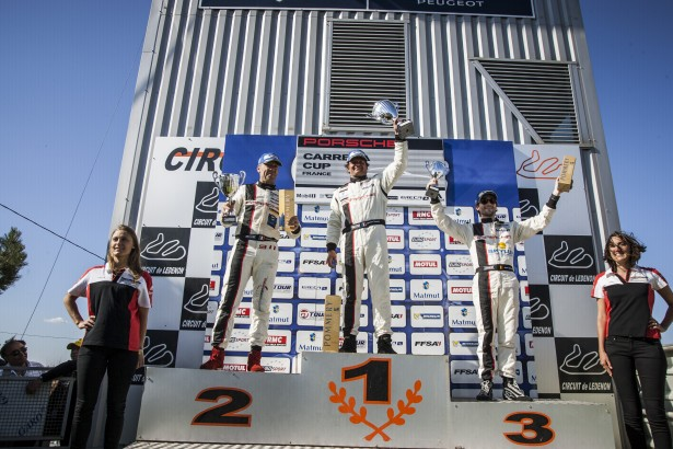 Pasquali-Porsche-Carrera-Cup-France-2014-IMSA-Performance-Matmut-Podium-Course-1-Hecq