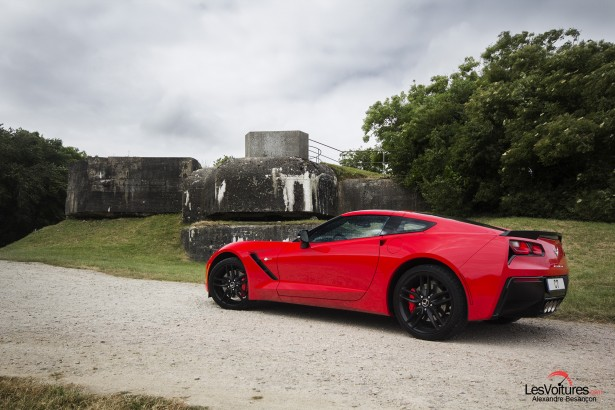 essai-test-drive-chevrolet-chevy-c7-stingray-normandy-2014-Spirit-of-1944-batterie-saint-marcouf