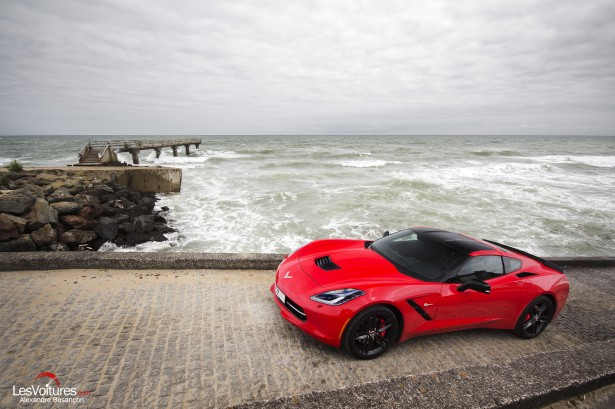 essai-test-drive-chevrolet-chevy-c7-stingray-normandy-2014-Spirit-of-1944-landing-omaha-beach
