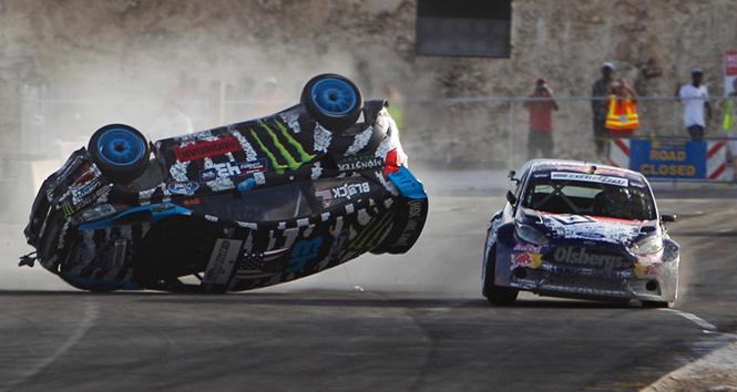 Vidéo : le crash de Ken Block en Global Rallycross comme si vous y étiez !