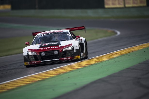Vanthoor-Audi R8 LMS Ultra #1-BELGIAN-AUDI-CLUB-TEAM WRT-Superpole-24-Hours-Spa-2014