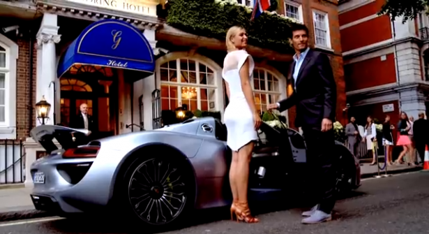 video-porsche-918-Spyder-Mark-Webber-Maria-Sharapova