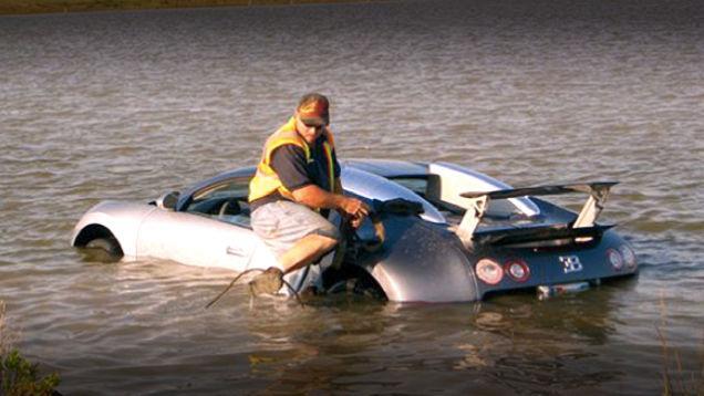 Fraude : 20 ans de prison pour avoir plongé sa Veyron dans un lac ?