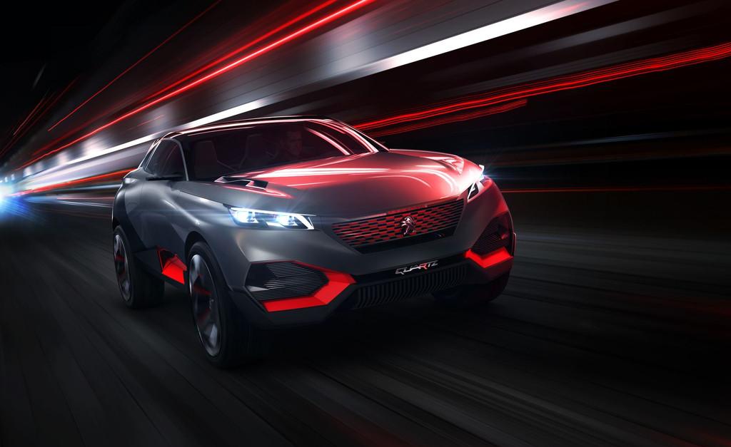 Peugeot Quartz : un concept-car affûté en prémisse d'un futur SUV Premium…