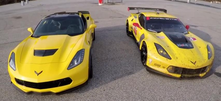 Vidéo : de la piste à la route avec les Chevrolet Corvette C7.R et Z06…