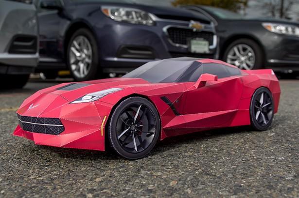 Corvette-Stingray-C7-Papercraft