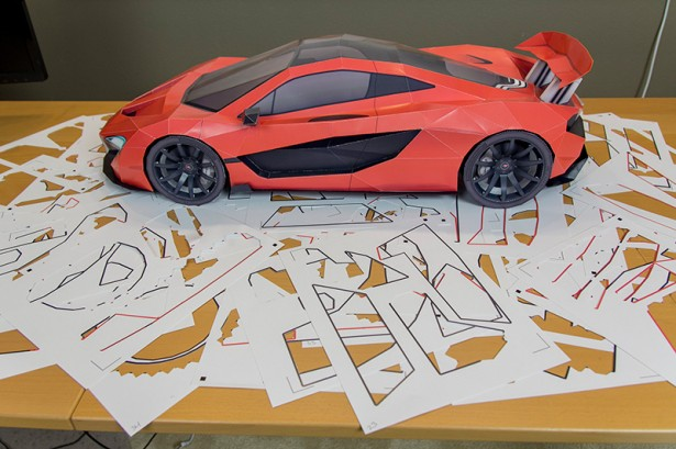 miniatures insolite fabriquez votre hypercar en papier les voitures. Black Bedroom Furniture Sets. Home Design Ideas
