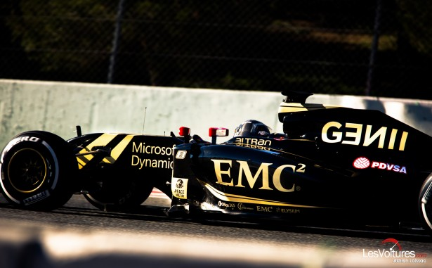 Formule-1-tests-Barcelone-2015-Lotus-F1-7