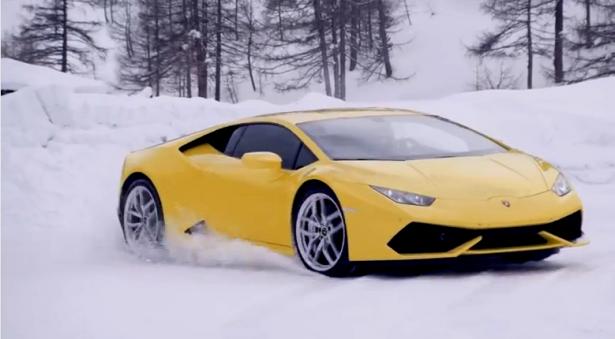 Vidéo : la Lamborghini Huracán en glisse…