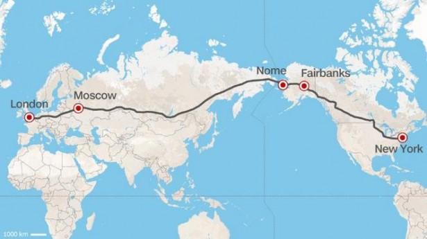 Autoroute : un projet russe de 20 000 km pour relier Londres à New Yor...