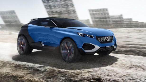 Peugeot Quartz : le concept de SUV Premium vire au bleu…