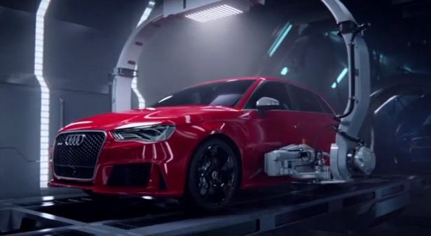 Vidéo : quand l'Audi R8 accouche de la RS 3 Sportback…