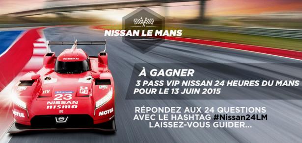 24 Heures du Mans : gagnez votre pass VIP avec Nissan