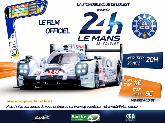 affiche film 24 heures du mans 2015 les voitures. Black Bedroom Furniture Sets. Home Design Ideas
