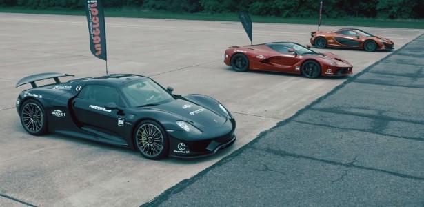 Vidéo : Drag Race ultime entre la McLaren P1, la Ferrari LaFerrari et la Porsche 918 Spyder !
