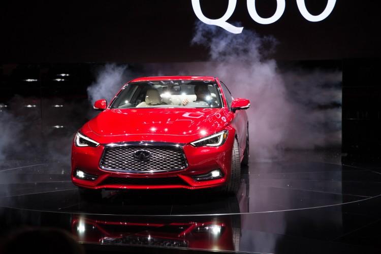 Infiniti reveló el nuevo coupé deportivo Q60 en el Auto Show Internacional Norteamericano (NAIAS por sus siglas en inglés) en Detroit. Con un diseño e ingeniería para un gran desempeño, el Q60 ofrece una gran combinación de un diseño atrevido, emocionante desempeño y grandes dinámicas.