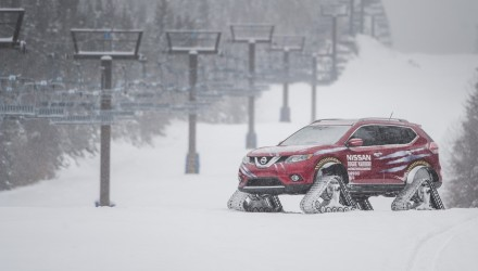 """Nissan's number one-selling product in Canada has been transformed into an extreme prototype, which sits on heavy-duty snow tracks measuring 30""""/76 cm in height, 48""""/122 cm in length and the individual track width is 15""""/38 cm."""