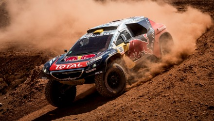 Stephane Peterhansel (FRA) of Team Peugeot-Total races during stage 07 of Rally Dakar 2016 from Uyuni, Bolivia to Salta, Argentina on January 9, 2016