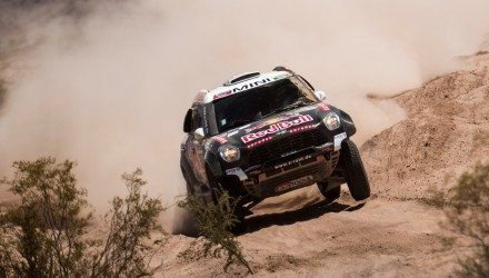 Nasser Al-Attiyah (QAT) of Axion X-Raid Team races during stage 11 of Rally Dakar 2016 from La Rioja to San Juan, Argentina on January 14, 2016