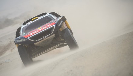Stephane Peterhansel (FRA) of Team Peugeot-Total races during stage 10 of Rally Dakar 2016 from Belen to La Rioja, Argentina on January 13, 2016