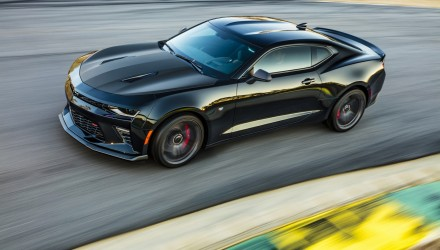 The Chevrolet Camaro 1LE SS performance package returns for 2017, providing increased handling and track performance. The V8 models feature a new performance-oriented chassis system with specific tuning for the magnetic ride dampers, a segment-exclusive electronic limited slip differential and optional Performance Data Recorder (PDR). Paired with massive Goodyear Eagle F1 tires, lateral acceleration will exceed 1G. (Vehicle shown with optional black Chevrolet bowtie accessory.)