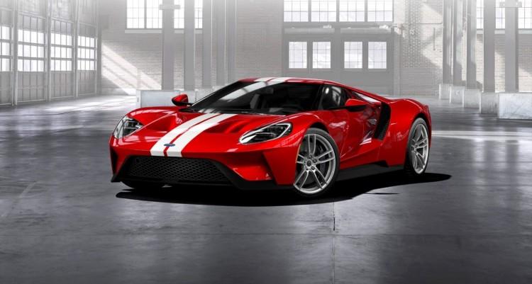 Liquid-Red-Ford-GT-Frozen-White-Stripe-front-three-quarter