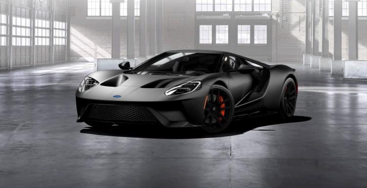 Matte-Black-Ford-GT-front-three-quarter