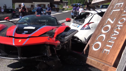 video-crash-ferrari-laferrari-restaurant