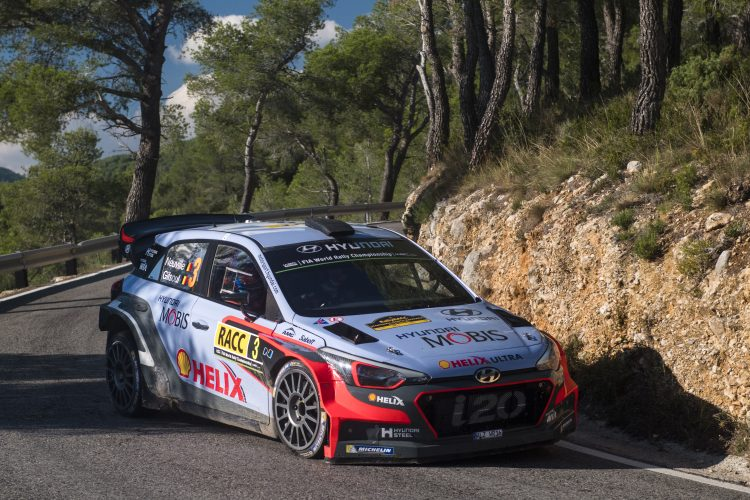 Thierry Neuville (BEL) performs during FIA World Rally Championship 2016 Spain in Salou , Spain on 15 October 2016