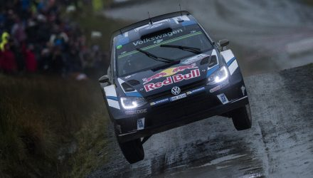 Sebastien Ogier (FRA) performs during FIA World Rally Championship in Deeside, Great Britain on 28  October 2016
