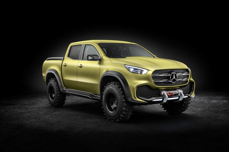 Mercedes-Benz Concept X-CLASS powerful adventurer – Exterieur, Lemonaxmetallic ; Mercedes-Benz Concept X-CLASS powerful adventurer – Exterior, Lemonax metallic;