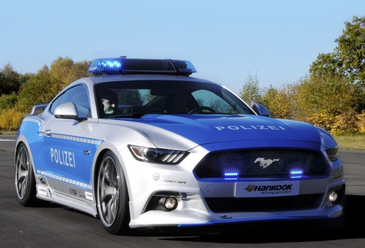 police-allemande-ford-mustang