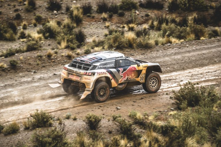 Sebastien Loeb (FRA) of Team Peugeot TOTAL races during stage 5 of Rally Dakar 2017 from Tupiza to Oruro, Bolivia on January 6, 2017.