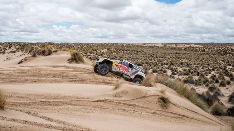 Sebastien Loeb (FRA) of Team Peugeot Total races during stage 07 of Rally Dakar 2017 from La Paz to Uyuni, Bolivia on January 09, 2017