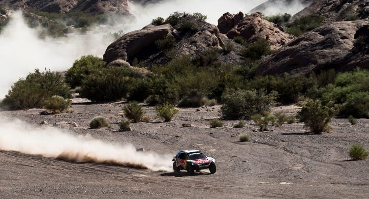 Sebastien Loeb (FRA) of Team Peugeot Total races during stage 10 of Rally Dakar 2017 from Chilecito to San Juan, Argentina on January 12, 2017