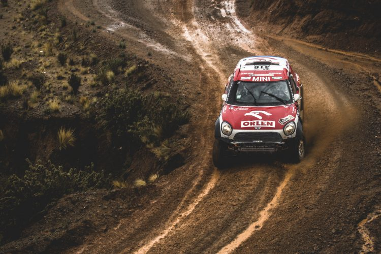 Jakub Przygonski (POL) of Toyota Gazoo Racing SA races during stage 5 of Rally Dakar 2017 from Tupiza to Oruro, Bolivia on January 6, 2017.