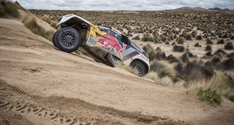 Stephane Peterhansel (FRA) of Team Peugeot Total races during stage 07 of Rally Dakar 2017 from La Paz to Uyuni, Bolivia on January 09, 2017