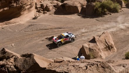 Stephane Peterhansel (FRA) of Team Peugeot Total races during stage 10 of Rally Dakar 2017 from Chilecito to San Juan, Argentina on January 12, 2017