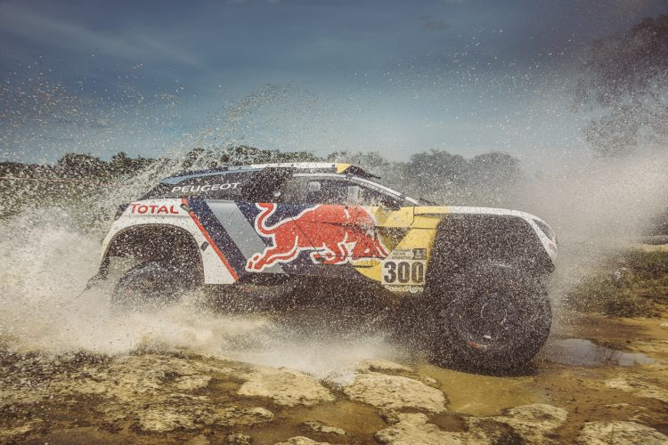 Stephane Peterhansel (FRA) of Team Peugeot TOTAL races during stage 1 of Rally Dakar 2017 from Asuncion, Paraguay to Resistencia, Argentina on January 2, 2017.