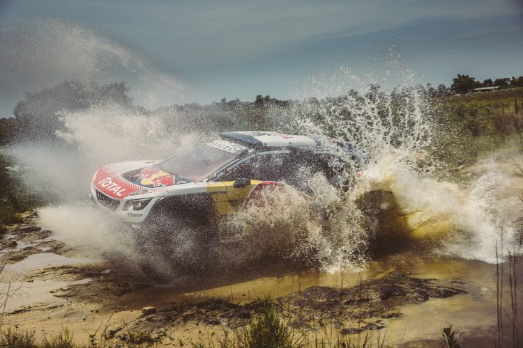 Carlos Sainz (ESP) of Team Peugeot TOTAL races during stage 1 of Rally Dakar 2017 from Asuncion, Paraguay to Resistencia, Argentina on January 2, 2017.
